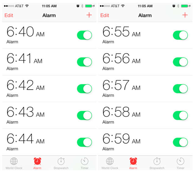 9. Alarm looks like this